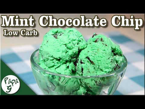 Mint Chocolate Chip Ice Cream – Low Carb Keto Homemade Ice Cream Recipe