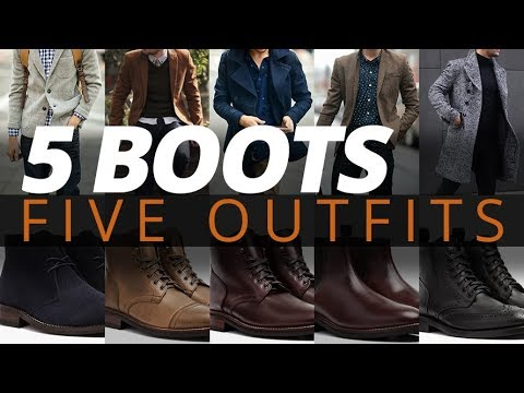 5 Fall Outfits For Men // Best Boots For Mens Autumn Style