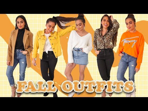 25 Fall Outfit Ideas | Styling Fall Trends+Thrifted Pieces  ♡
