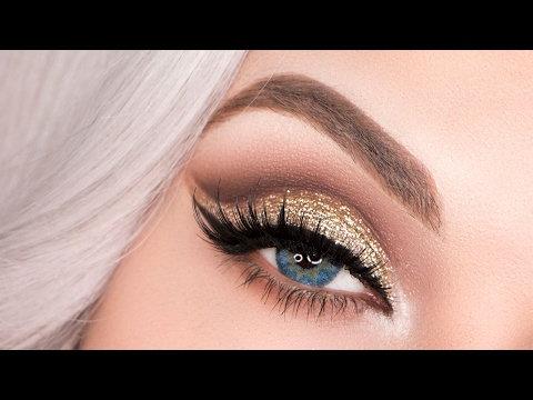 Gold Glitter Cut Crease Tutorial | NYE/Holiday/Party Makeup