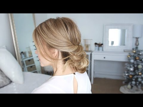 Aveda How-To | Holiday Party Elegant Low Bun Hairstyle Tutorial