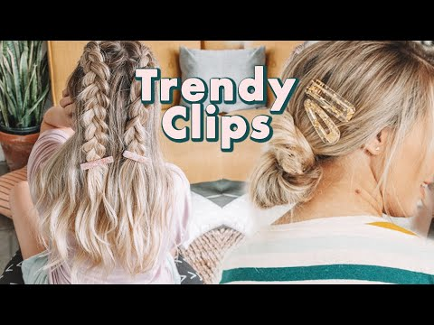 How to Wear Trendy Hair Clips