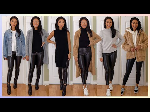 How To Style Leather Leggings | Fall Lookbook 2019