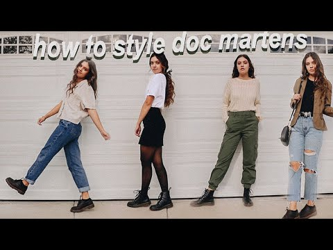How To Style Doc Martens | Fall Lookbook & Outfit Ideas