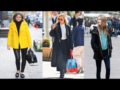 Celebrity Winter Street Style Fashion