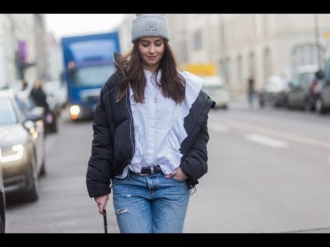 Chic Street Style In Puffer Jacket