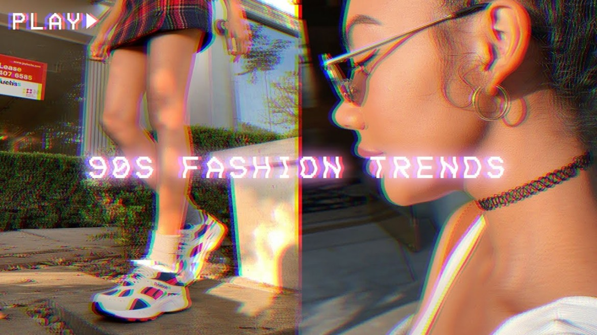 How To Style 90's Trends | Dad Sneakers, Plaid Skirts, Chokers, etc..