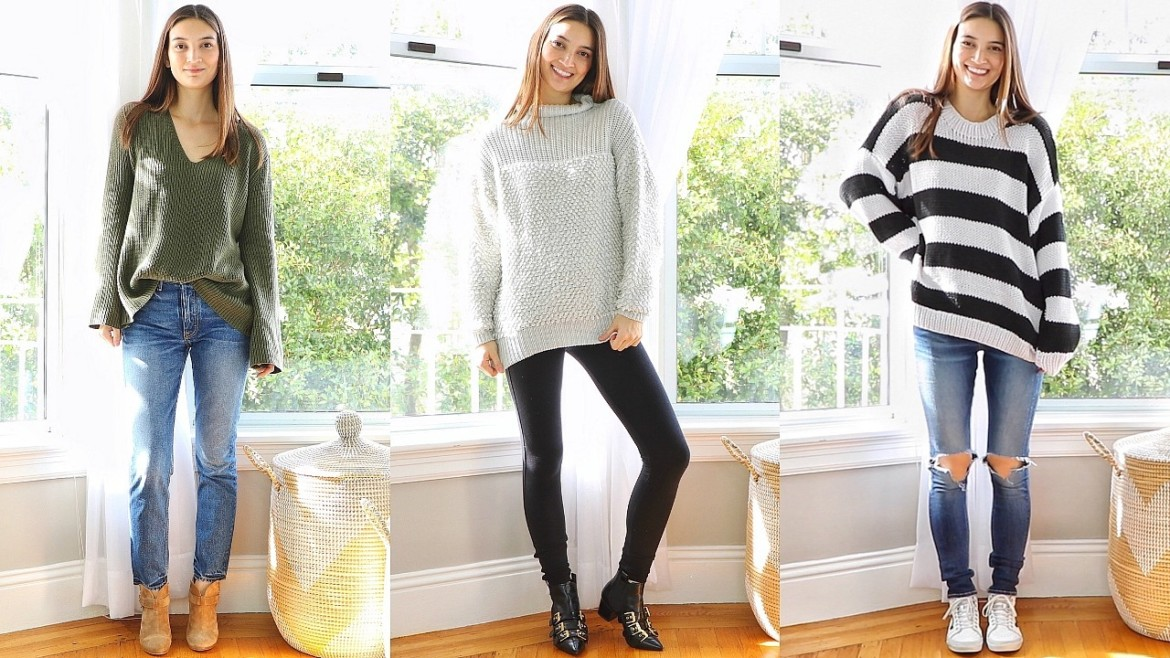 How To Style Oversized Sweaters/Chunky Knits