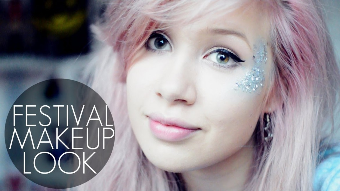 Fun Festival Glitter Makeup Tutorial