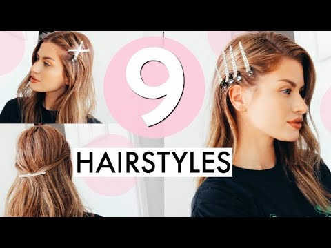 9 Heatless Hair Clip Hairstyles | Easy + Simple