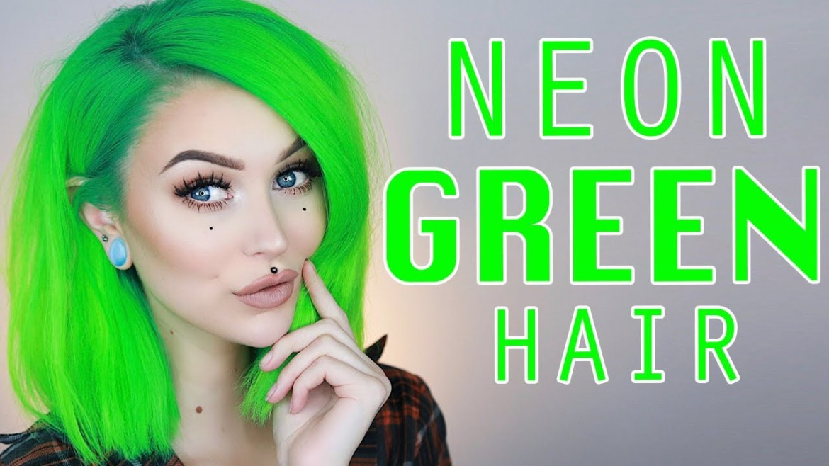 Dyeing My Hair Neon Green At Home