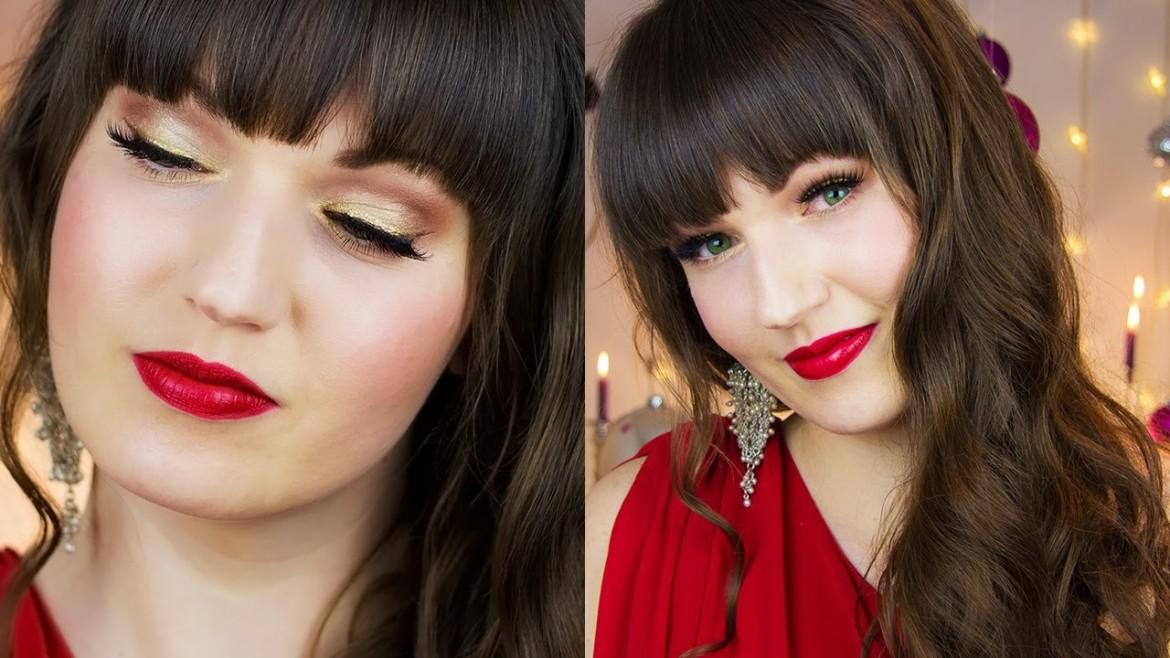 Classy Christmas Makeup Hair + Outfit | #Holidaze