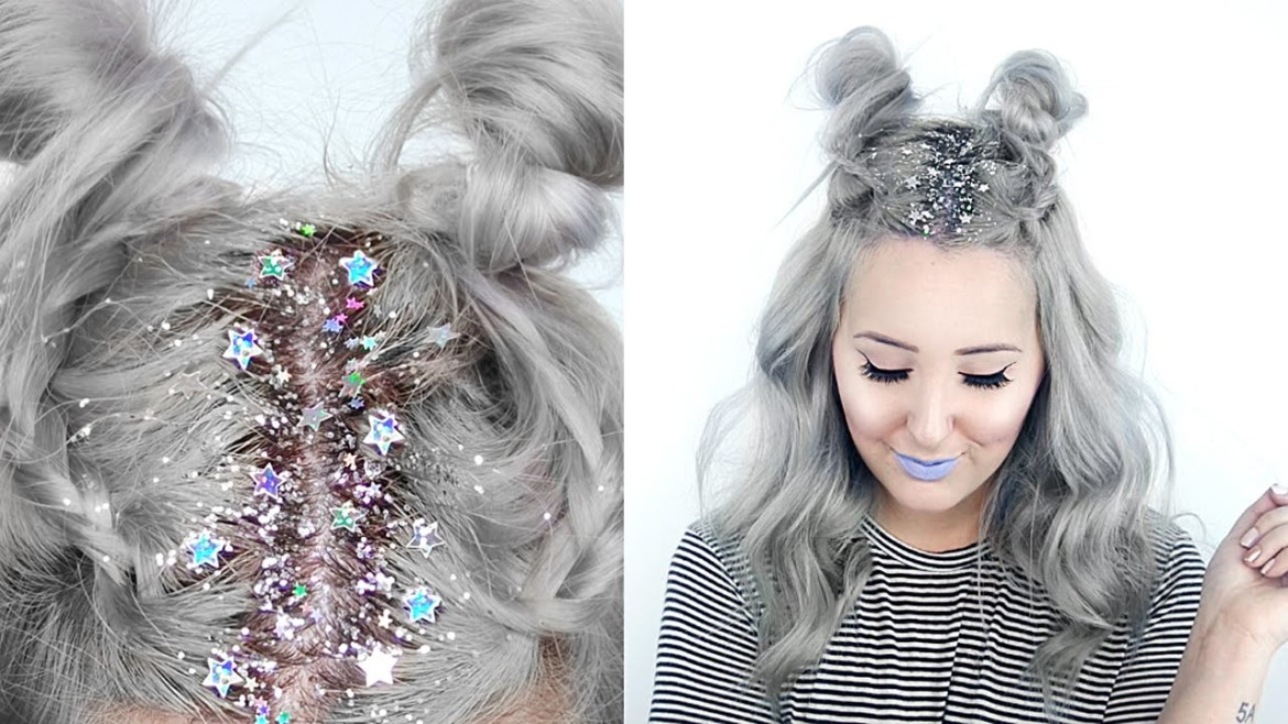 How-To | Star Glitter Roots + Hairstyle
