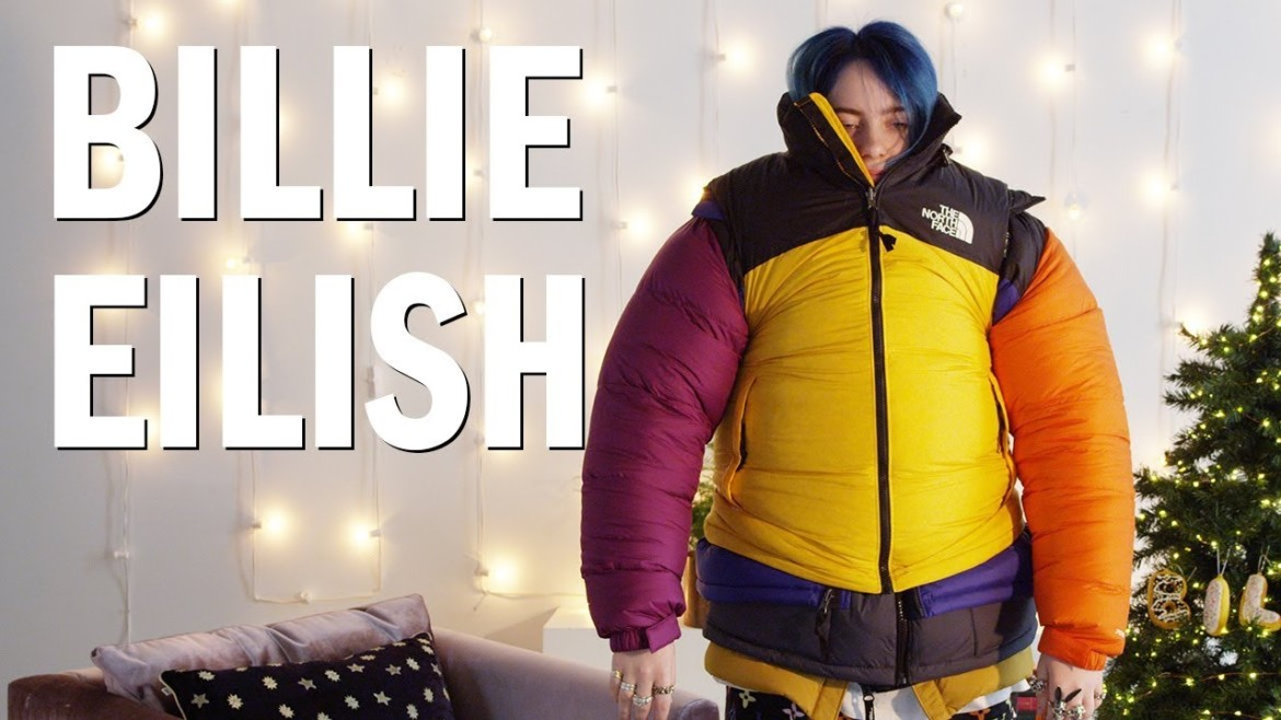 Billie Eilish Attempts the Puffer Jacket Challenge
