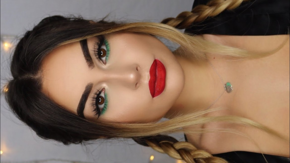 LAZY Christmas Makeup Tutorial I Aylin Melisa