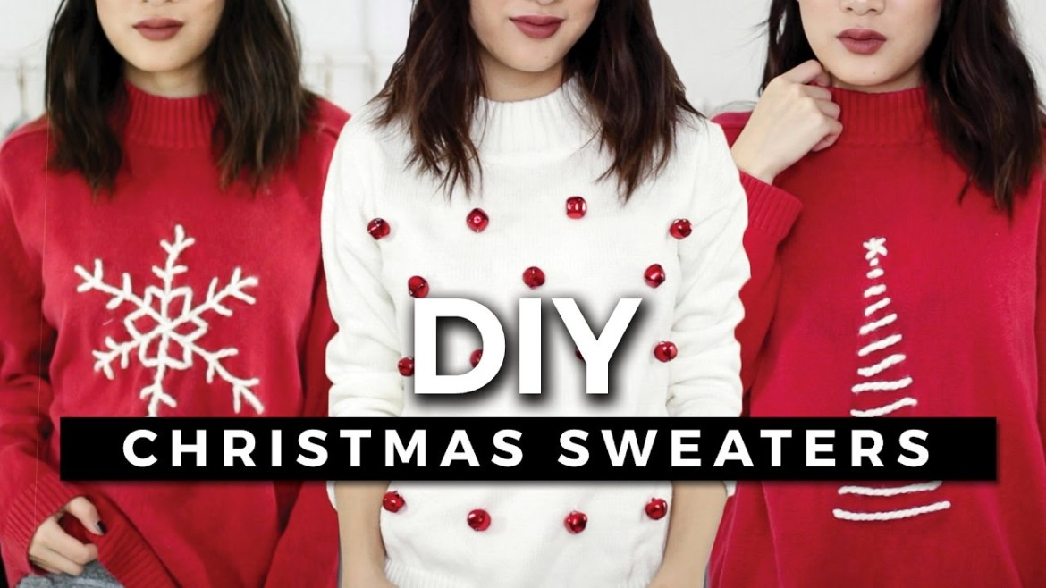 DIY Ugly Christmas Sweaters! Easy & Minimal! + GIVEAWAY!