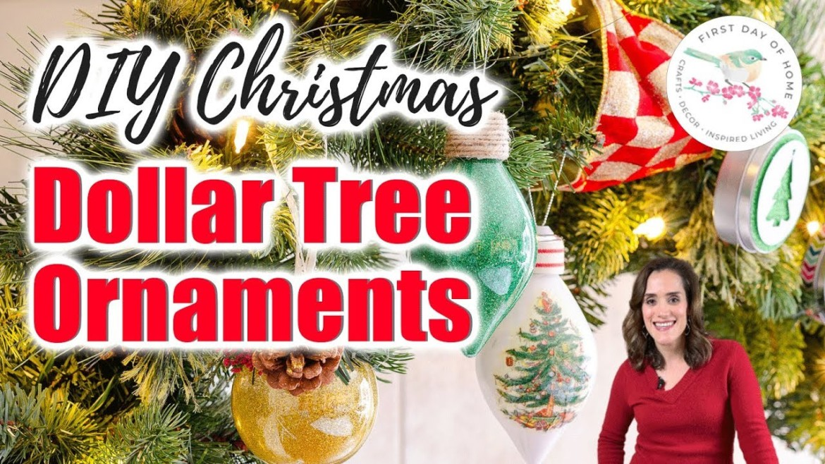 Dollar Tree Christmas Ornaments DIY | Ugly Christmas Sweaters and More!