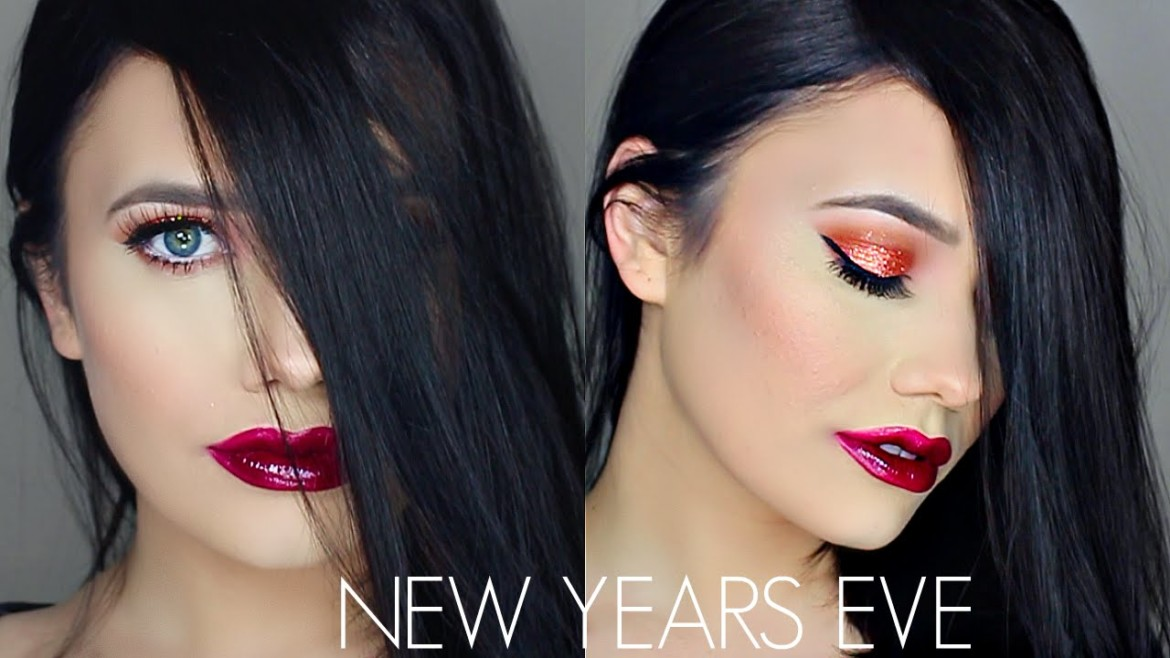 NEW YEAR'S EVE MAKEUP TUTORIAL | COPPER SPARKLING EYES