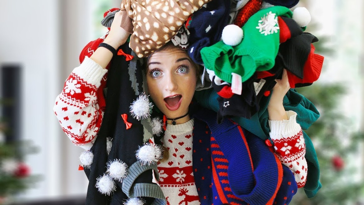 Which Tacky Christmas Sweater Would You Wear?!? | 12 Days of Vlogmas {Day 10}
