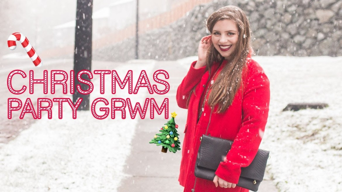 Christmas Party GRWM // Affordable e.l.f. Cosmetics Makeup + Christmas Outfit! 🎄♥️