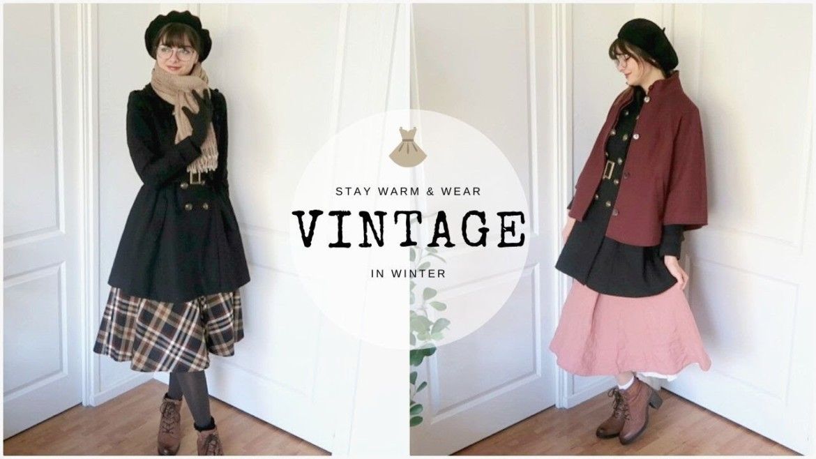 How To Wear Skirts/Dresses In Cold Weather | Vintage In Winter