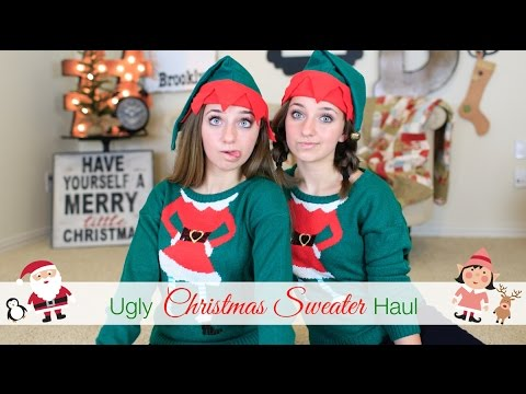 Ugly Christmas Sweater Haul | Brooklyn and Bailey