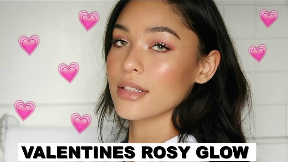 Blushing Hearts Valentines Makeup Look | Rosy Glow