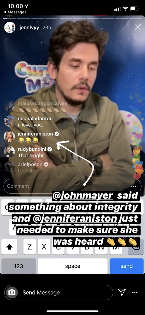 Jennifer Aniston Had a Lot to Say During John Mayers Instagram Live Show