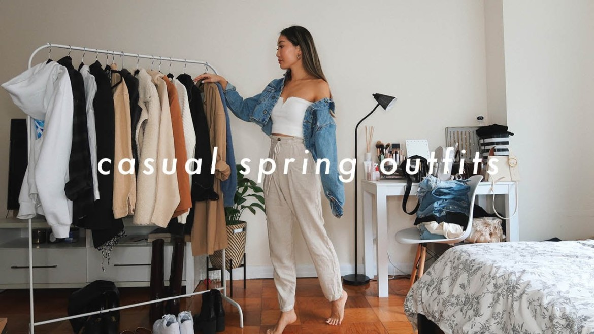 CASUAL SPRING OUTFITS 🌺| spring fashion lookbook 2020