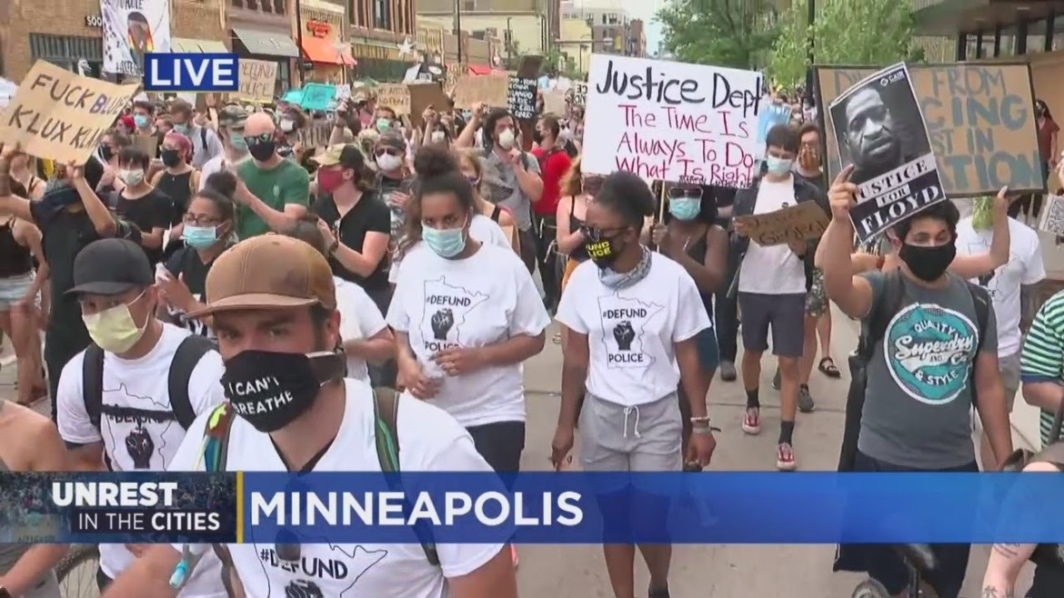Protesters March In Minneapolis Calling On Mayor Frey To Defund MPD