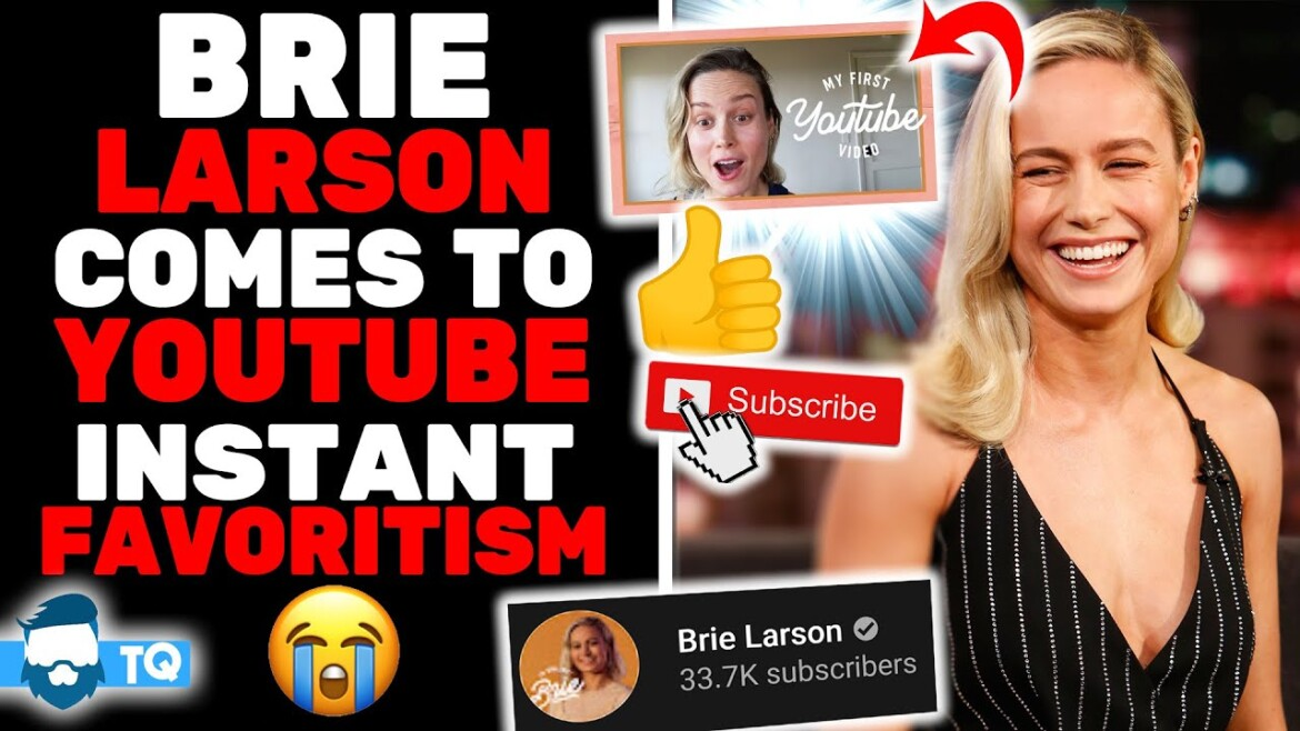 Brie Larson Joins Youtube! She's Totally Just Like Us! (Except Better)