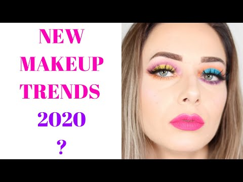 NEW MAKEUP TRENDS 2020? | Mismatched Eyes + Bright Pink Lips