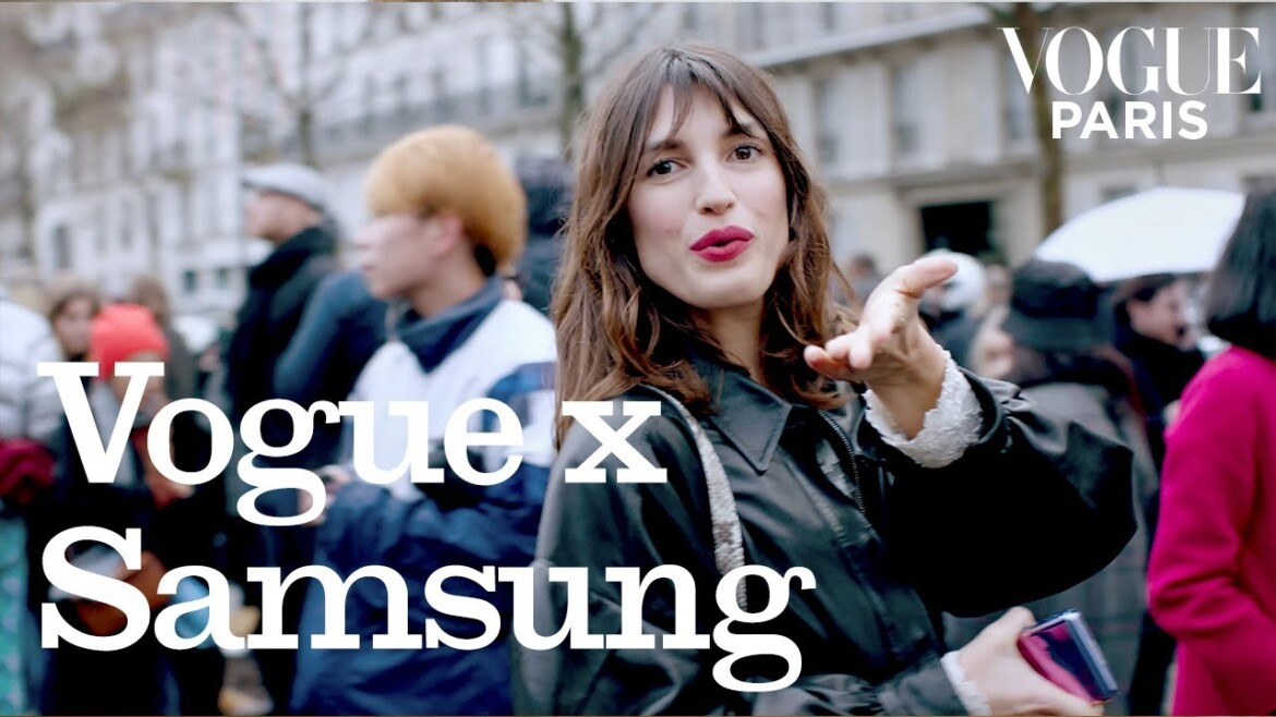 A day at Paris Fashion Week with Jeanne Damas I Vogue Paris X Samsung